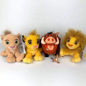 Lion King Bean Bag Plush Set of 4 NEW